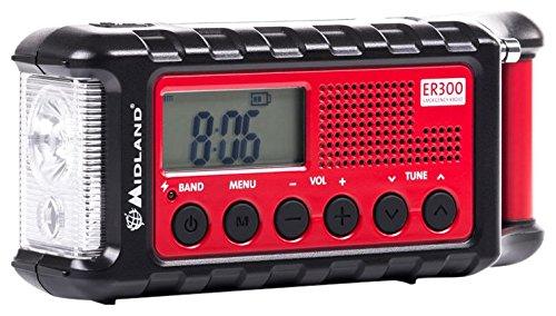 Midland ER300 Handkurbel Surival Outdoor-Radio , UKW , inkl. PowerBank Funktion , Solar , Handkurbel und SOS Lampe - Radio Beste Kurbel