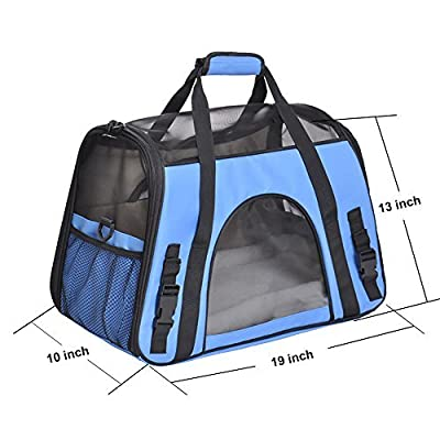 Pet Carrier, PYRUS Soft-Sided Kennel Cab Folding Soft Dog Crate Pet Travel Carrier Bag for Dogs Cats and Puppies