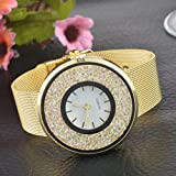 Souarts-Womens-Steel-Band-Round-Dial-Quicksand-Rhinestone-Quartz-Analog-Wrist-Watch-22cm