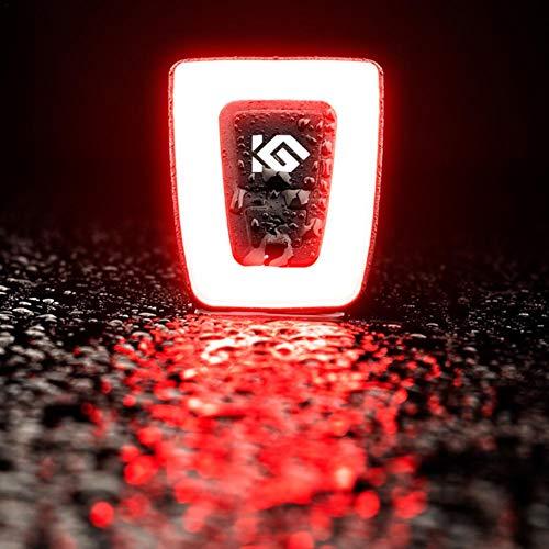 iBelly Fahrrad Rücklicht mit USB Wiederaufladbare Fahrradlichter LED Fahrrad Rückleuchten Wasserdichte Mountainbike Rücklichter ABS Fahrradlampe Sturzhelmrücklichter Rucksackwarnlichter