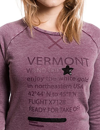 Timezone Damen Sweatshirt 18-0223 Violett (passionate red 5177)