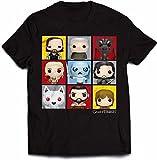 Official Juego de Tronos - Personaje Pop Art - Camiseta Oficial Hombre - Negro, Small