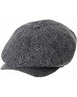 WITHMOONS Coppola Cappello Irish Gatsby Newsboy Hat Wool Felt Simple Gatsby Ivy Cap SL3525 (Grey)