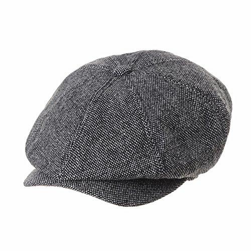 WITHMOONS Béret Casquette Chapeau Newsboy Hat Wool Felt Simple Gatsby Ivy  Cap SL3525 (Grey) 9fed86dfc81