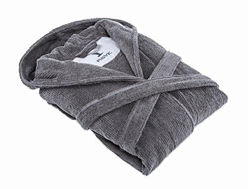 Möve Homewear Kapuzenbademantel, snow, Größe S Grau