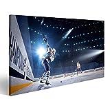 islandburner Quadro moderno giocatore di hockey su ghiaccio tira il disco Stampa su tela - Quadro x poltrone salotto cucina mobili ufficio casa - fotografica formato XXL