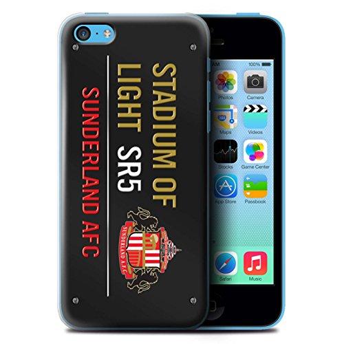 Offiziell Sunderland AFC Hülle / Case für Apple iPhone 5C / Pack 6pcs Muster / SAFC Stadium of Light Zeichen Kollektion Schwarz/Gold