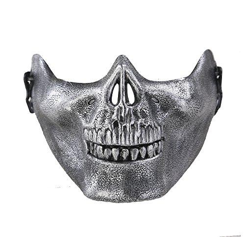 (Soccik Softair Maske Totenkopf Schaedel Halbschutzmaske Skelett Halloween Horror Maske Vollschutz Maske Totenkopf Schädel)