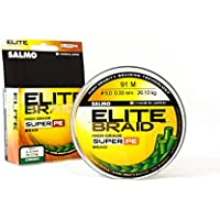 Salmo Extra strong fishing line Elite green braided fishing line for use as an ice fishing line, bass fishing line, sea fishing line and fishing wire for loads from 5 to 122 lbs.