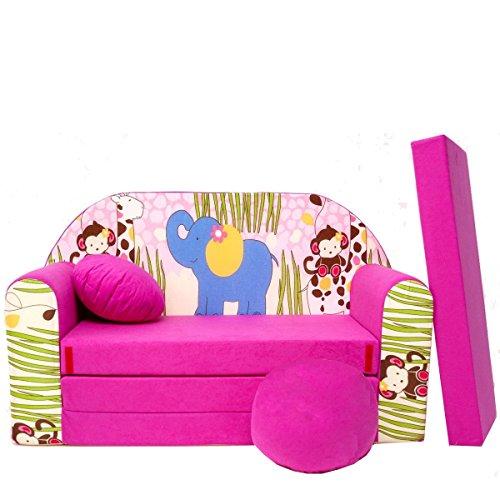 Barabike H16 + Un bébé pour Enfants Mini Canapé bébé Canapé lit Pouf Lot de 3 en 1 d'oreillers en Mousse