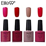 Elite99 4pcs Kit de Esmalte de Uñas de Gel UV LED Shellac Laca...