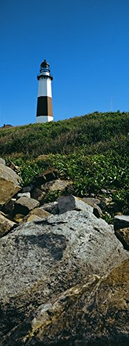 The Poster Corp Panoramic Images - Low Angle View of Lighthouse Montauk Point Montauk Suffolk County New York State USA Photo Print (91,44 x 30,48 cm) - Suffolk County, New York