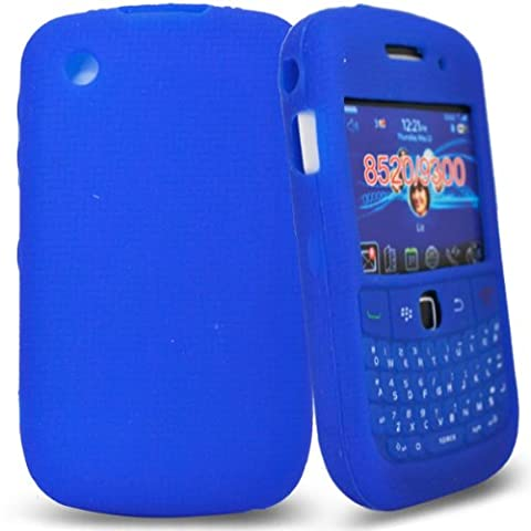 Phonedirectonline- Blue keypad silicone case cover pouch for blackberry curve