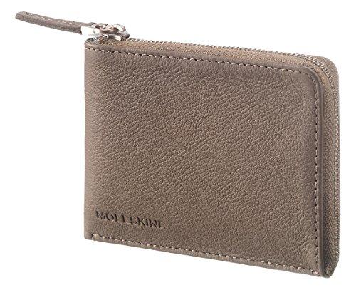 Moleskine Lineage Brieftasche Leder, Klein Kreditkartenhülle, Taupe (Brieftasche Moleskine)