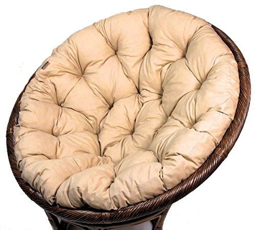 Rattani Polster für Papasansessel, Auflage, Ersatzpolster Papasan D 110 cm, Stoff Loneta beige