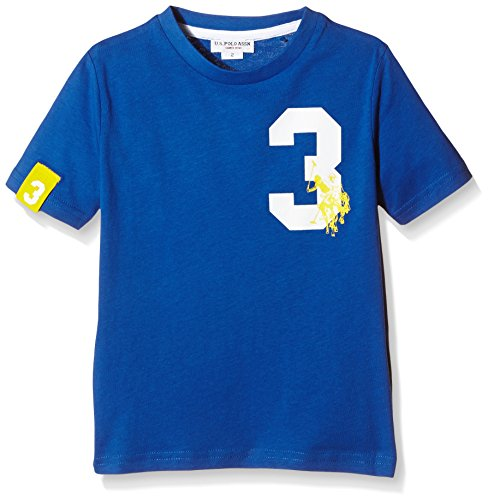 U.S. Polo Assn. - T-Shirt Maniche Corte Fab Colors Ss, Unisex Bambino, Royal (337), 6