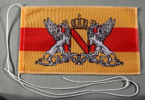 Buddel-Bini Großherzogtum Baden 15x25 cm Tischflagge in Profi - Qualität Tischfahne Autoflagge Bootsflagge Motorradflagge Mopedflagge