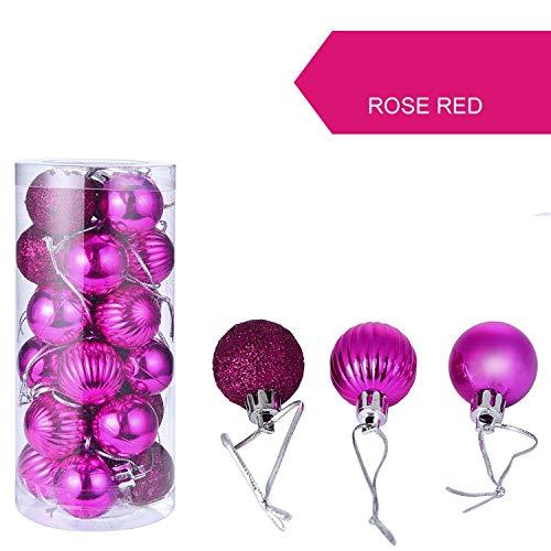 YearningH Christmas balls 24pcs / Lot 30mm Weihnachtsbaum-Dekor-Kugel-Flitter-Weihnachtsparty-hängende Kugel-Verzierung, Hellgrau (Glaskugel Klare Ornamente Kleine)