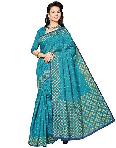 Roopkala Silks & Sarees Cotton Saree(BP-109_Blue)
