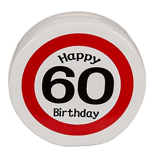 Preis am Stiel 1 x Spardose - Happy Birthday 60   60. Geburtstag   Geburtstagsartikel   Geburtstagsdekoration   Geburtstagszubehör   Glückwunsch   Geburtstagsgeschenk   Spardose   Geburtstag