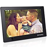 Digital Photo Frame 10 inch Jimwey 1080P HD IPS LCD Display Electronic Picture