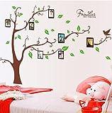 Mkkm Muro adesivi foglia verde memoria albero divano TV corridoio foto parete Wall Sticker