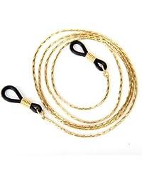 TOOGOO(R) 1pc Cuerda Cadena Gafas de sol Soporte-Gafas de sol - Oro claro