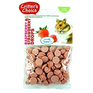 Critters Choice Small Animal Raspberry and Strawberry Drops 75g 51kwll7H81L