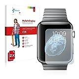 2x Vikuiti MySafeDisplay CV8 Displayschutz Schutzfolie Apple Watch (38mm/Diagonale) (Ultraklar, Versiegelt Kratzer, Blasenfreie Montage, Passgenauer Zuschnitt)
