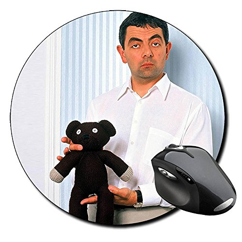 Mr Bean With Teddy Rowan Atkinson Mauspad Round Mousepad PC