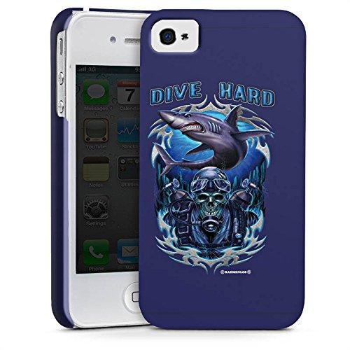Apple iPhone X Silikon Hülle Case Schutzhülle Hai Skull Wasser Premium Case glänzend