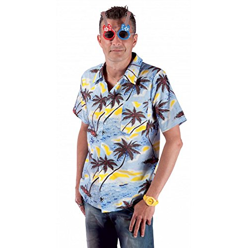 P 'tit Clown 27057Hemd Hawaii-Einheitsgröße-Blau