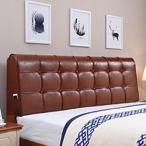 Unbekannt MMM- Continental Bedside Soft Case Bett Kissen große Rückenlehne Pad Kissen Bettdecke Hotel Doppel waschbar (Farbe : Agate red, größe : 185*58cm(Bedside))