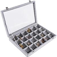 Meshela nuevo de mujer joyas Joyero Joyas Organizador pantalla caja para anillos pendientes collar