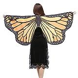 Schal,Sasstaids Frauen Schmetterlingsflügel Schal Schals Damen Nymphe Pixie Poncho Kostüm Zubehör
