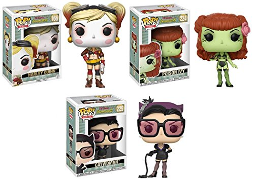 Funko POP! DC Bombshells: Harley Quinn + Poison Ivy + Catwoman - Stylized Vinyl Figure Set NEW (Funko Pop Poison Ivy)