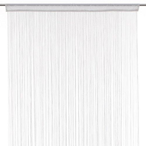 Rideau fil (largeur 90 cm) Blanc