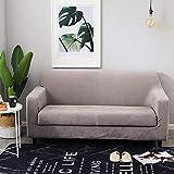 VGUYFUYH Slipcover Einfaches Sofa Komplettpaket 123 Kombination Leder Sofakissen, D Samt Sofabezug Grau Gl, Dual 145-185Cm Anwendung