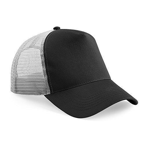 Beechfield Trucker Cap in Black / grey Schwarz / Grau