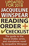 Jacqueline Winspear Reading Order and Checklist: The guide to the Maisie Dobbs series and standalone novel by Jacqueline Winspear