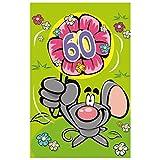 Susy Card, biglietto di auguri 3D con fiore per i 60 anni, con scritta in lingua tedesca, 11448461