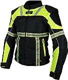 Damen Textil Motorradjacke Heyberry Schwarz Neongelb mit Reflektoren Gr. M