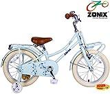 Zonix Mädchen Hollandrad Pastell-Blau 16 Zoll mit Frontträger