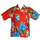 Chemise hawaïenne Vintage - 6XL, Rouge, occasion d'occasion  Livré partout en France