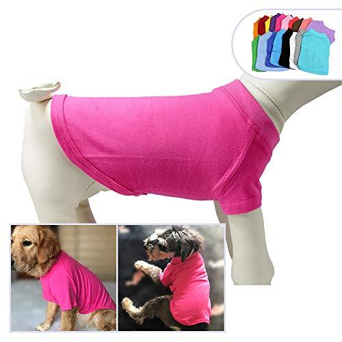 longlongpet 2019 Haustier-Kostüme für Welpen, Hunde, unbeschriftet, T-Shirt, T-Shirts für große, mittelgroße und kleine Hunde, 100% Baumwolle, 18 ()