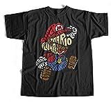 T-Shirt Mario Bros S-4XL Gamer | Super Nintendo | GTA | SNES | Yoshi | 1 up |
