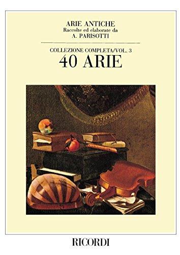 Arie antiche Volume 3 (40 airs) - Cht/Po