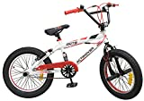 18 Zoll BMX Freestyle Bike Actimover Fahrrad weiss-rot mit 360° Rotor