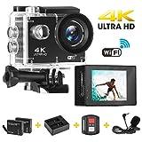 Sport Action Camera, yue Ying Action Cam Ultra Full HD 720P, 12MP ,140Ultra Grandangolare, impermeabile, Accessori gratuiti