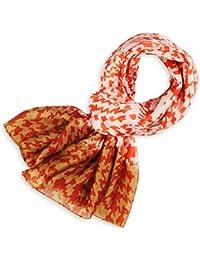 Allée du foulard Etole soie Indienne Deconstruct ORANGE et BRUN 47ca5be7f8e